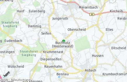 Stadtplan Buchholz (Westerwald)