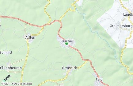 Stadtplan Büchel bei Cochem