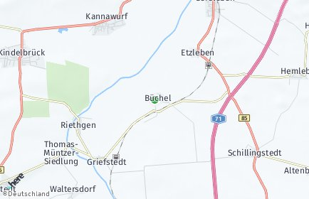 Stadtplan Büchel (Thüringen)
