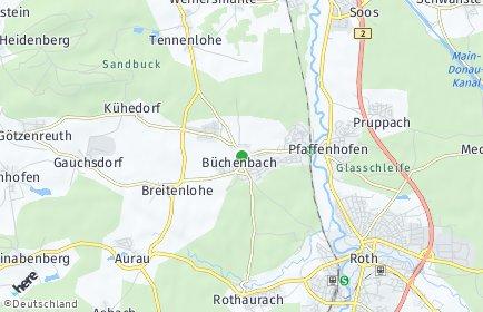 Stadtplan Büchenbach