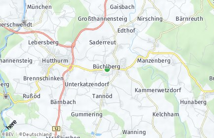Stadtplan Büchlberg OT Hartingerhof