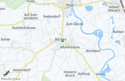 Stadtplan Bücken