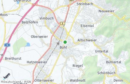 Stadtplan Bühl (Baden)