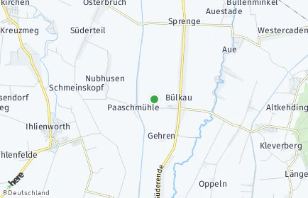 Stadtplan Bülkau
