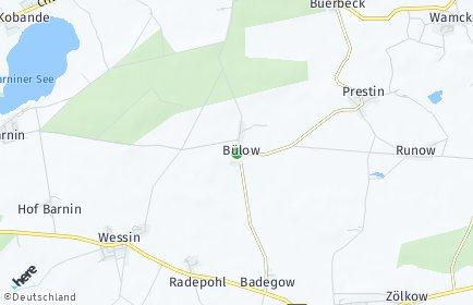 Stadtplan Bülow bei Crivitz