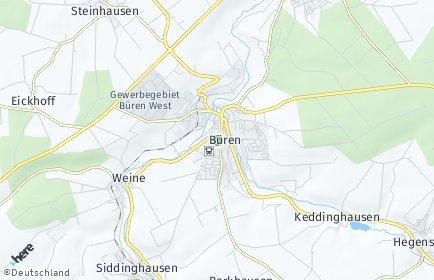 Stadtplan Büren