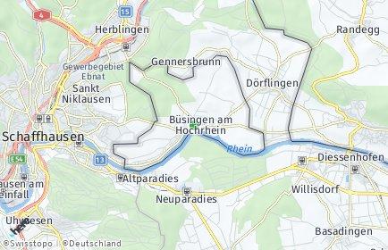 Stadtplan Büsingen am Hochrhein