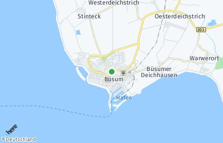 Stadtplan Büsum