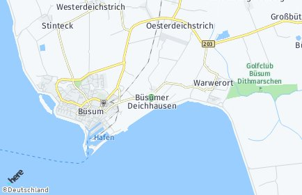 Stadtplan Büsumer Deichhausen