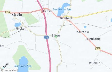 Stadtplan Bütow