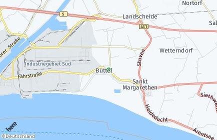 Stadtplan Büttel