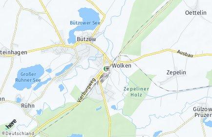 Stadtplan Bützow
