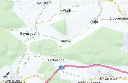 Stadtplan Buhla