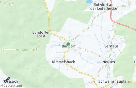Stadtplan Bundorf