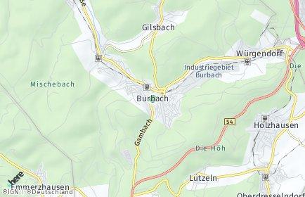 Stadtplan Burbach (Siegerland)
