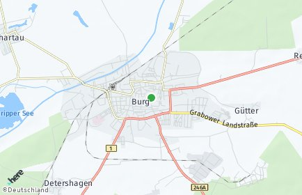 Stadtplan Burg bei Magdeburg