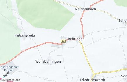 Stadtplan Hörselberg-Hainich