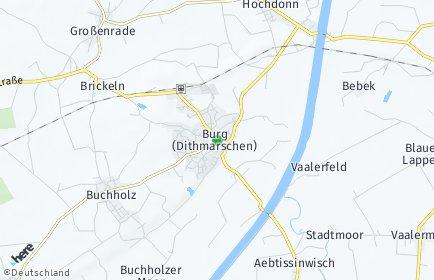 Stadtplan Burg (Dithmarschen)