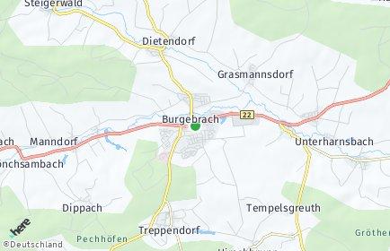 Stadtplan Burgebrach OT Treppendorf