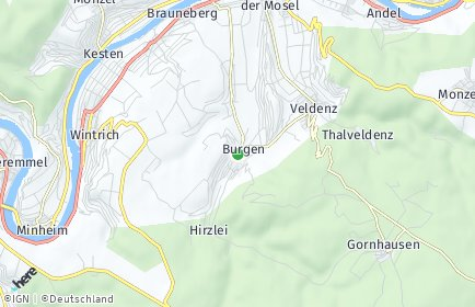 Stadtplan Burgen (Hunsrück)
