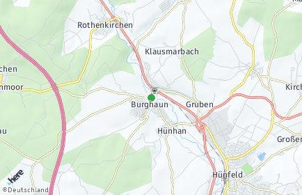 Stadtplan Burghaun