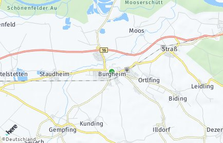 Stadtplan Burgheim