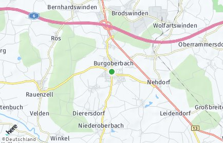 Stadtplan Burgoberbach