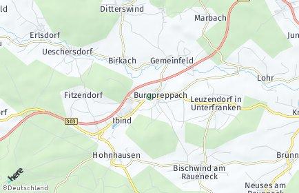 Stadtplan Burgpreppach