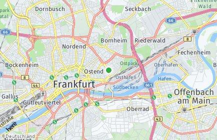 Stadtplan Frankfurt am Main OT Ostend