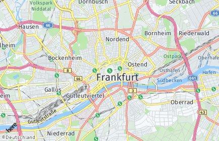 Stadtplan Frankfurt am Main OT Innenstadt