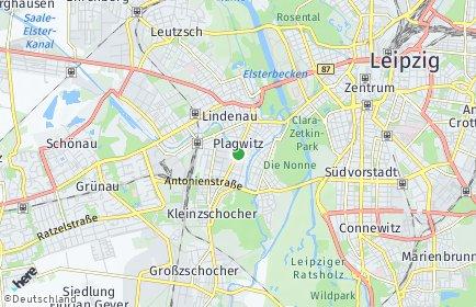 Stadtplan Leipzig OT Plagwitz