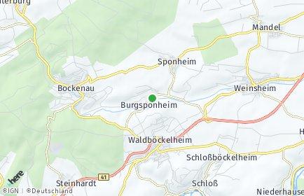 Stadtplan Burgsponheim