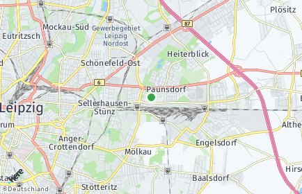 Stadtplan Leipzig OT Paunsdorf
