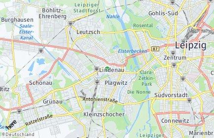 Stadtplan Leipzig OT Lindenau