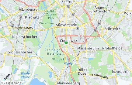 Stadtplan Leipzig OT Connewitz