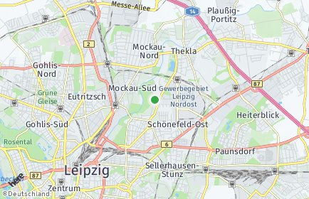 Stadtplan Leipzig OT Schönefeld-Abtnaundorf