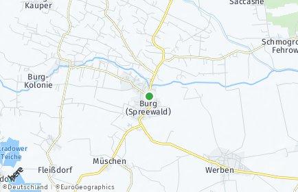 Stadtplan Burg (Spreewald)