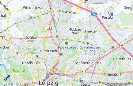 Stadtplan Leipzig OT Mockau-Süd