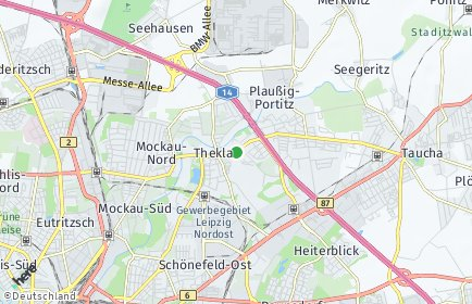 Stadtplan Leipzig OT Thekla