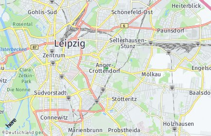 Stadtplan Leipzig OT Anger-Crottendorf