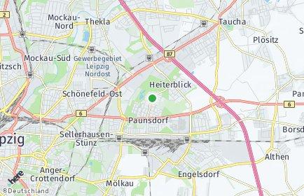 Stadtplan Leipzig OT Heiterblick