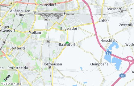 Stadtplan Leipzig OT Baalsdorf
