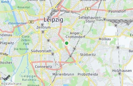 Stadtplan Leipzig OT Reudnitz-Thonberg