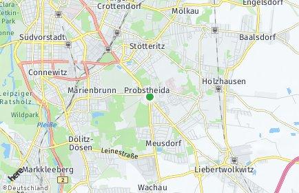 Stadtplan Leipzig OT Probstheida