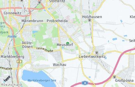 Stadtplan Leipzig OT Meusdorf