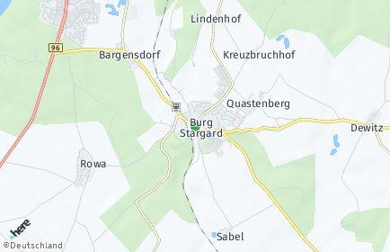 Stadtplan Burg Stargard