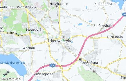 Stadtplan Leipzig OT Liebertwolkwitz