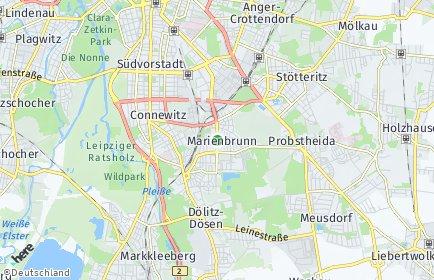 Stadtplan Leipzig OT Marienbrunn