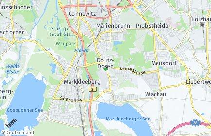 Stadtplan Leipzig OT Dölitz-Dösen