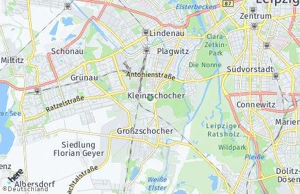 Stadtplan Leipzig OT Kleinzschocher